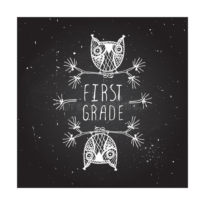Primo grado - manifesto della scuola royalty illustrazione gratis