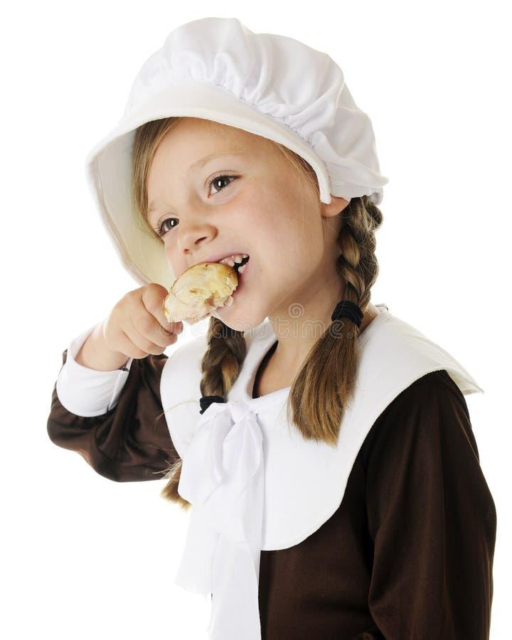 Primo mangiatore di ringraziamento fotografie stock libere da diritti