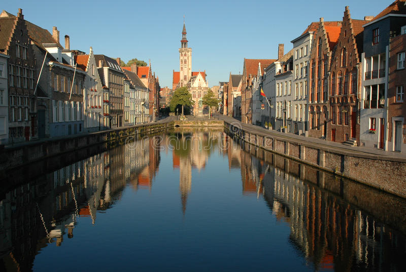 Primo mattino a Bruges fotografia stock libera da diritti