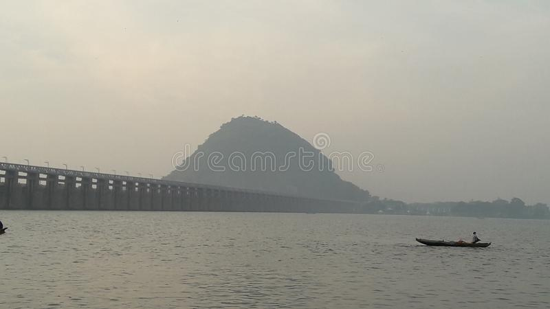Primo mattino Vijayawada immagini stock libere da diritti