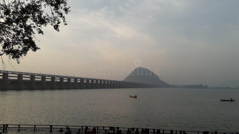 Primo mattino Vijayawada immagini stock