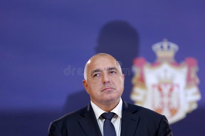 Primo Ministro bulgaro Bokyo Borissov fotografia stock libera da diritti