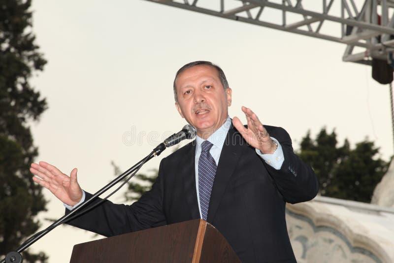 Primo Ministro Recep Tayyip Erdogan immagine stock libera da diritti