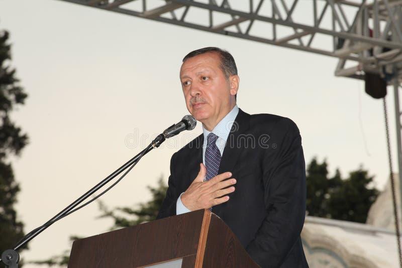 Primo Ministro Recep Tayyip Erdogan immagine stock