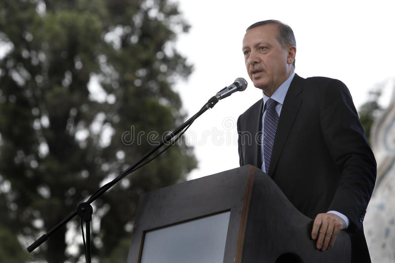 Primo Ministro Recep Tayyip Erdogan fotografie stock libere da diritti