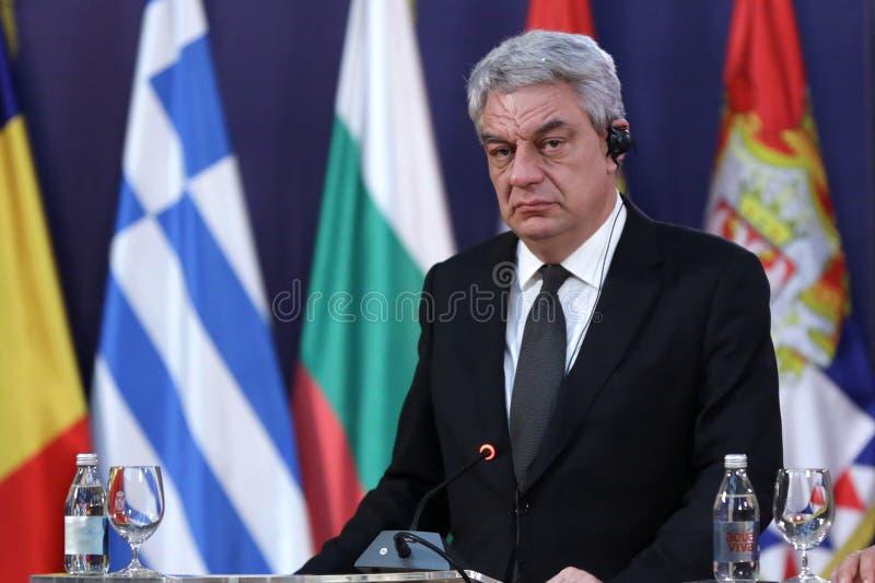 Primo Ministro rumeno Mihai Tudose immagini stock