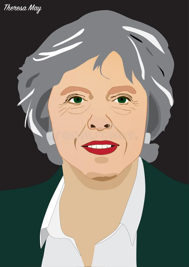 Primo Ministro Theresa May illustrazione di stock