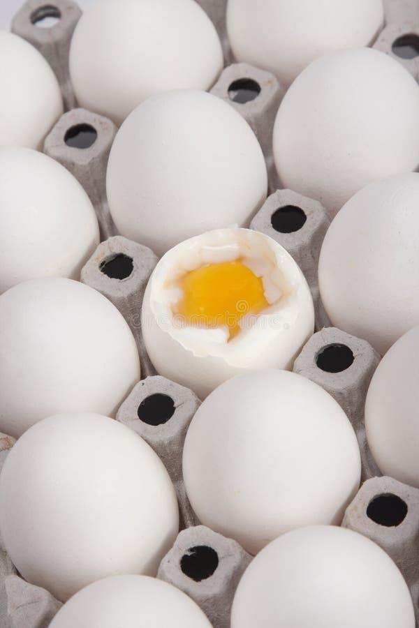 Primo piano bollito dell'uovo fotografie stock