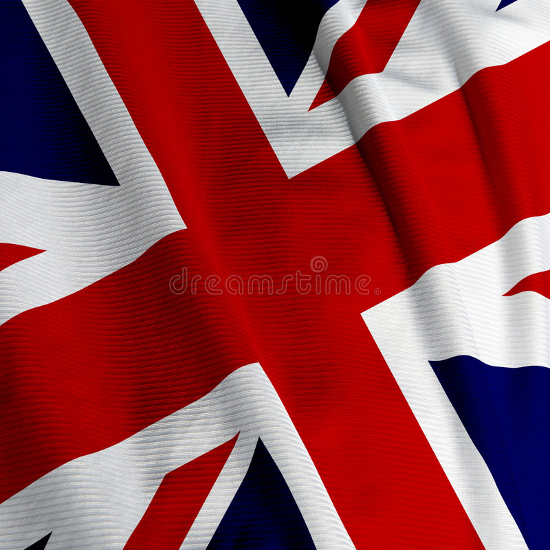 Primo piano britannico della bandierina fotografia stock