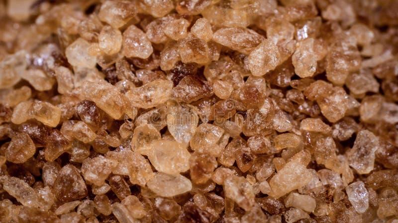 Primo piano Brown Sugar Gravel Dessert fotografie stock