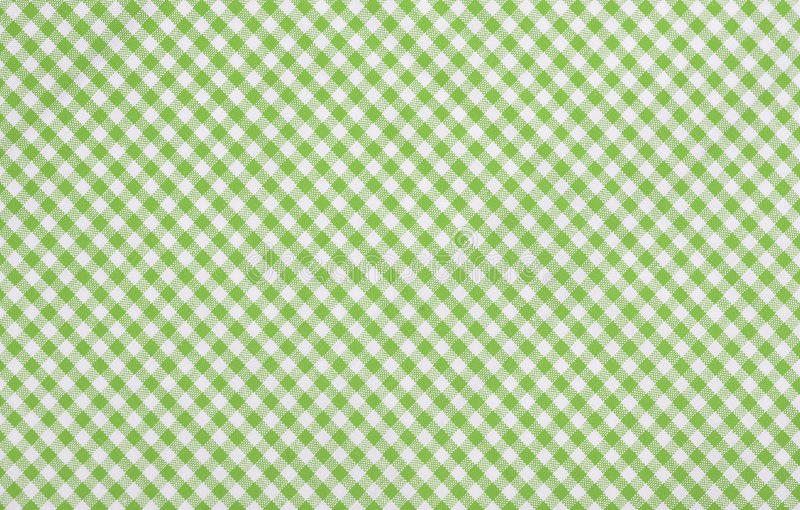Tessuto checkered verde immagine stock