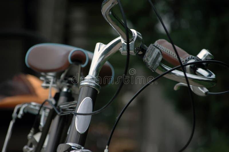 Primo piano classico della bicicletta fotografia stock libera da diritti