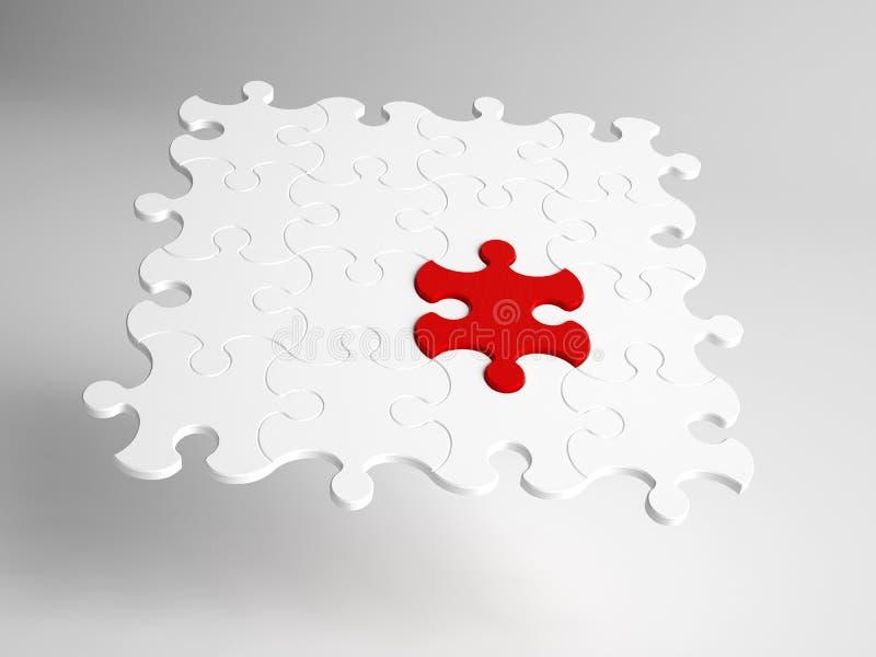 Primo piano concettuale del puzzle astratto immagine stock libera da diritti
