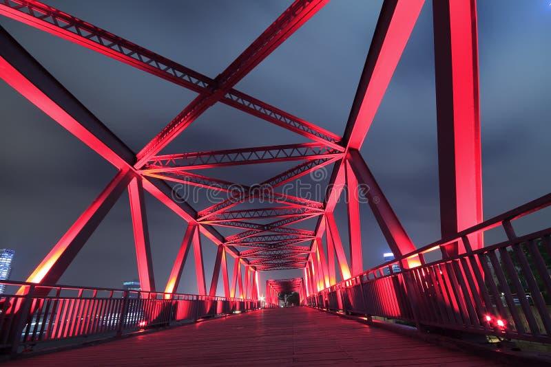 Primo piano d'acciaio del ponte immagini stock libere da diritti