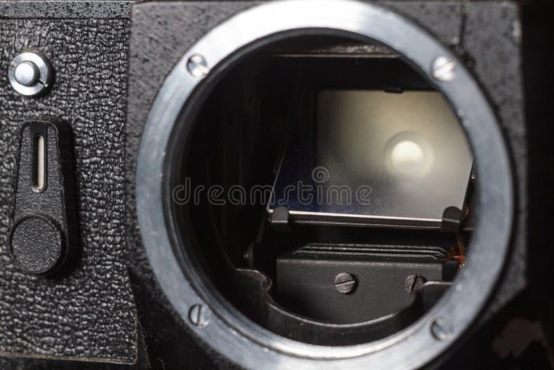 Primo piano d'annata della macchina da presa immagine stock