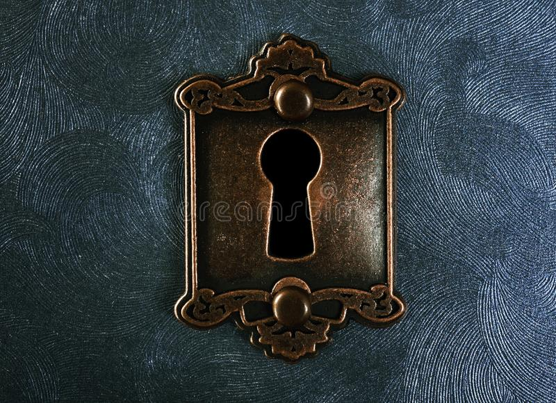 Primo piano d'annata della serratura fotografie stock libere da diritti