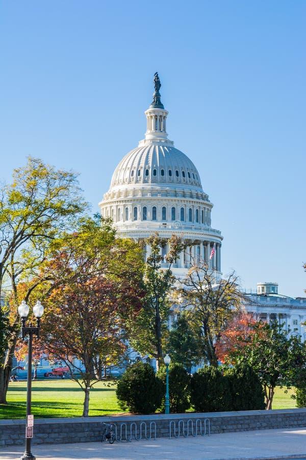 Primo piano Dayli solo del dettaglio della cupola del Washington DC di Buiding del Campidoglio degli Stati Uniti fotografia stock
