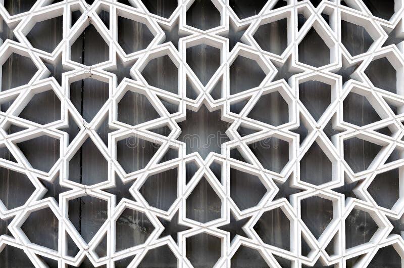Primo piano degli ornamenti di arabesque, decorazione musulmana antica immagini stock