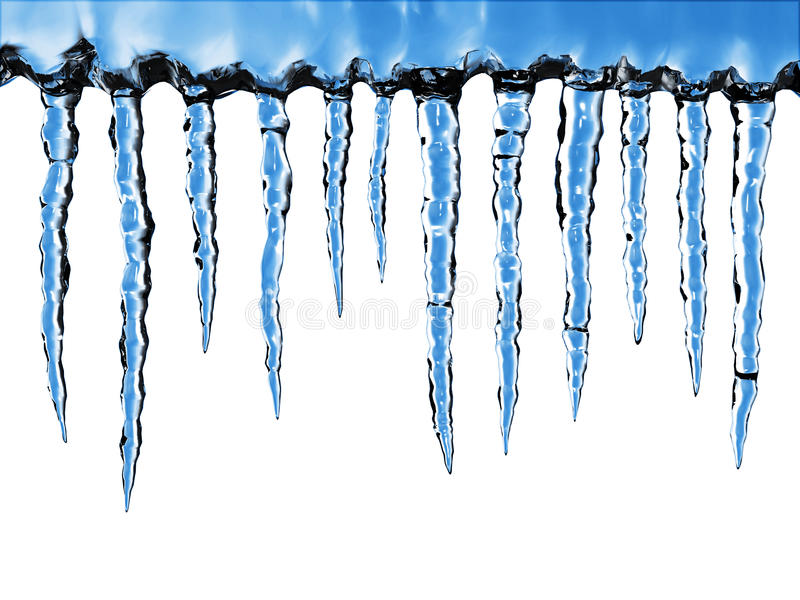 Primo piano dei ghiaccioli immagine stock