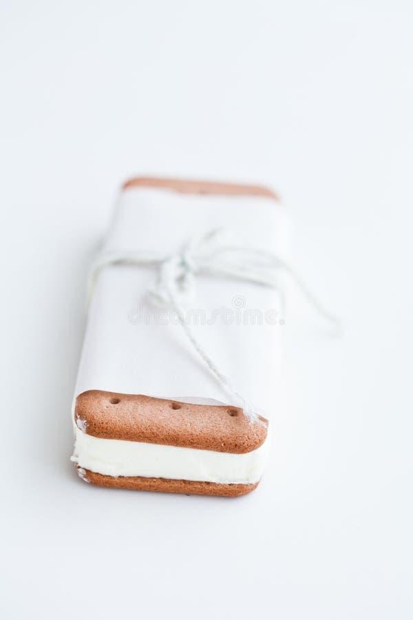 Biscotto del gelato fotografie stock