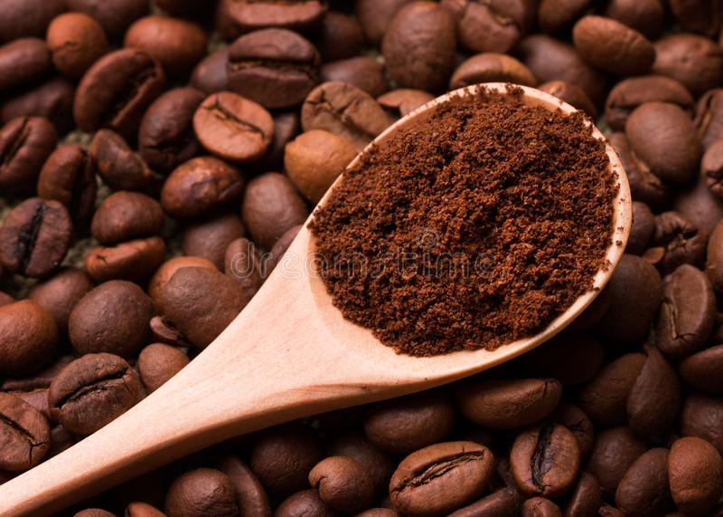 Primo piano del caff? macinato immagine stock libera da diritti
