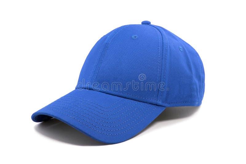 Primo piano del cappuccio blu di modo immagini stock
