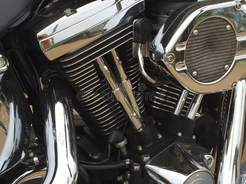 Primo piano del cilindro del motociclo immagine stock libera da diritti