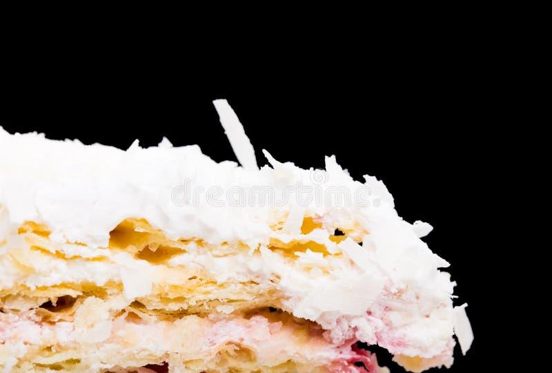 Primo piano del dolce di noce di cocco delizioso immagini stock