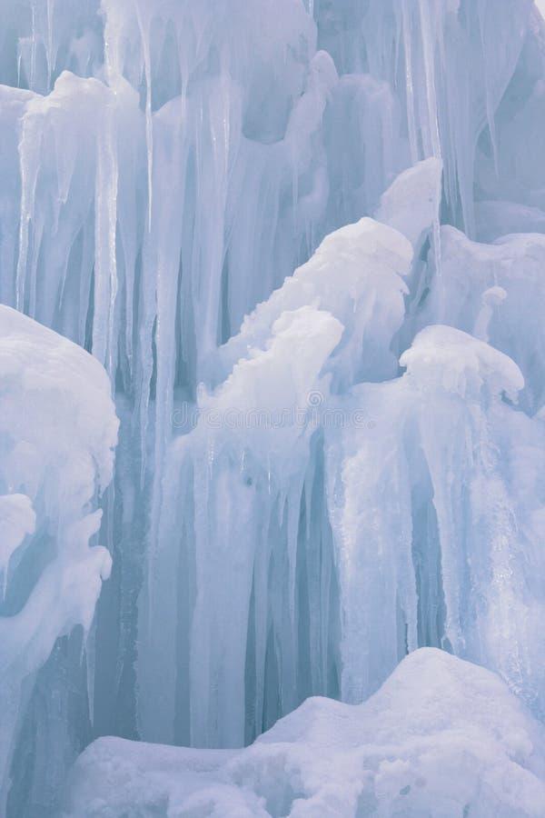 Primo piano del gruppo di terminali del ghiacciolo immagini stock