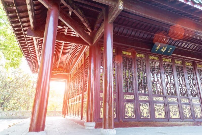Primo piano del padiglione del cinese tradizionale immagini stock