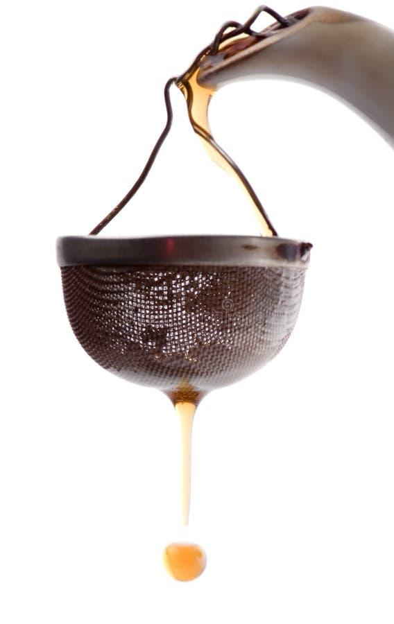 Primo piano del Tea-strainer fotografia stock