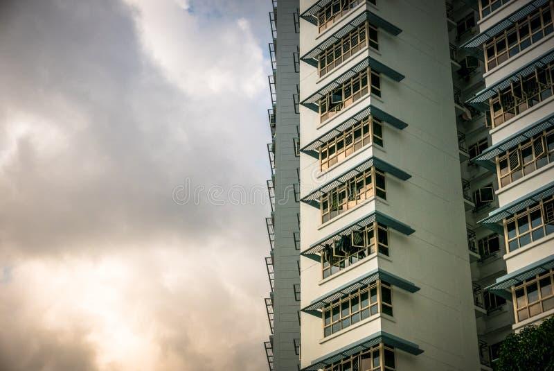 Primo piano dell'appartamento residenziale pubblico dell'alloggio di Singapore in Bukit Panjang fotografia stock
