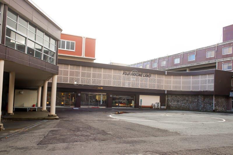 Primo piano dell'hotel della terra di Fuji Hakone a Hakone, Giappone fotografie stock