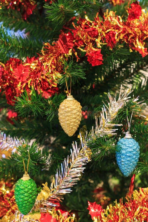 Primo piano dell'Natale-albero fotografie stock libere da diritti