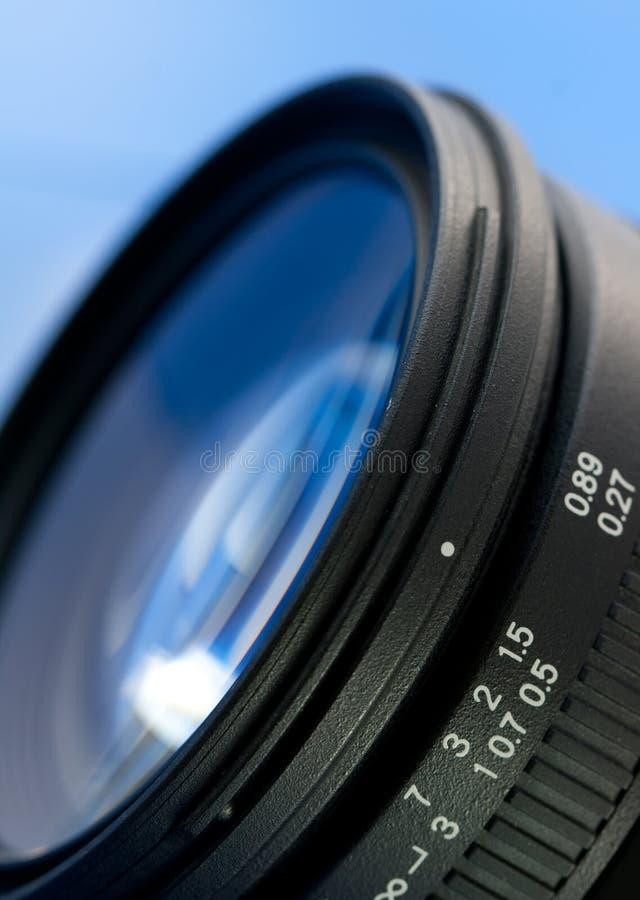 Primo piano dell'obiettivo di macchina fotografica fotografie stock libere da diritti