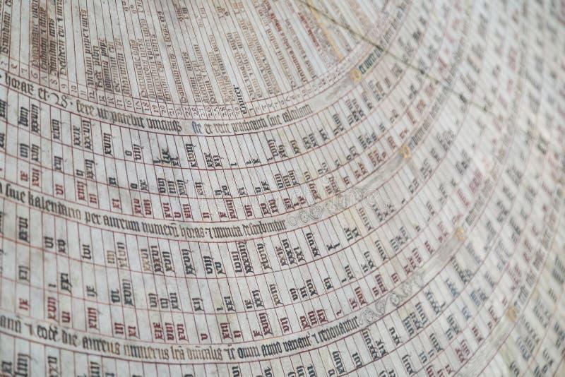 Primo piano dell'orologio astronomico di Danzica a Danzica fotografie stock libere da diritti