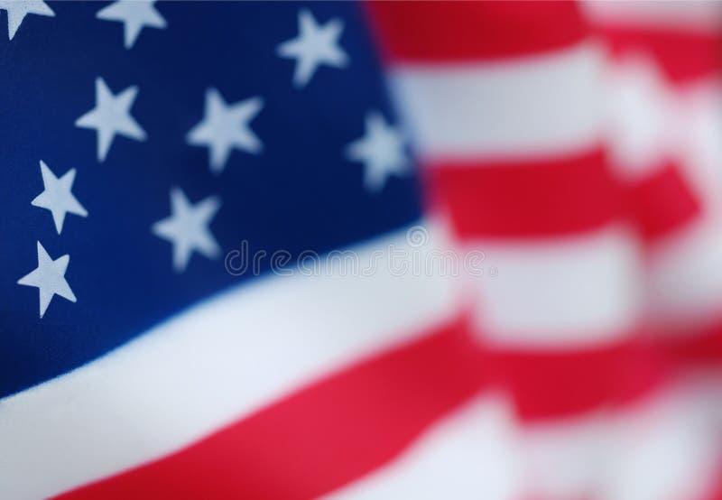 Primo piano della bandiera americana degli S.U.A. immagine stock