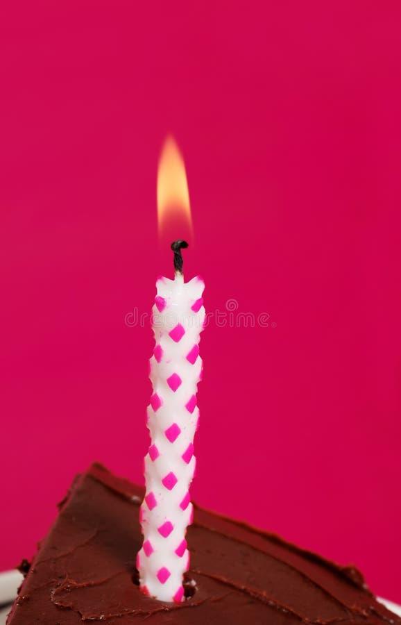 Primo piano della candela di compleanno fotografie stock libere da diritti