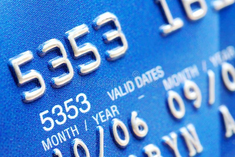 Primo piano della carta di credito fotografia stock libera da diritti