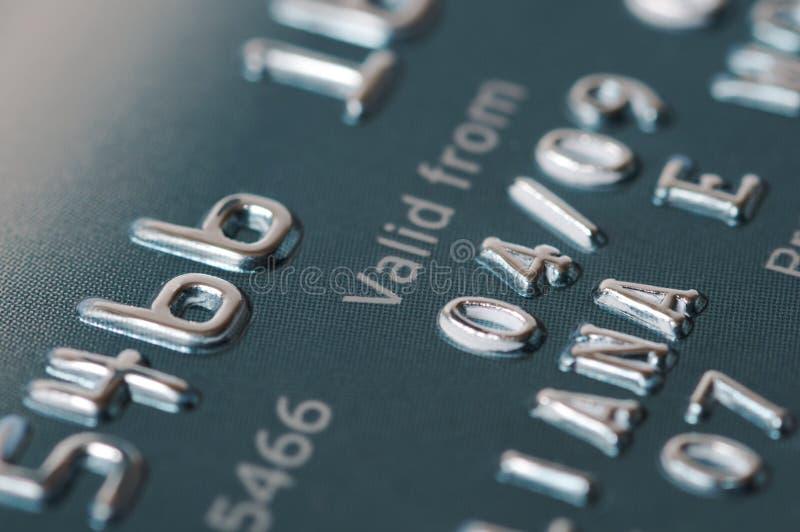 Primo piano della carta di credito, valido da fotografia stock libera da diritti