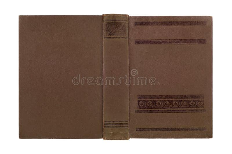 Primo piano della copertina di libro di cuoio antica immagini stock