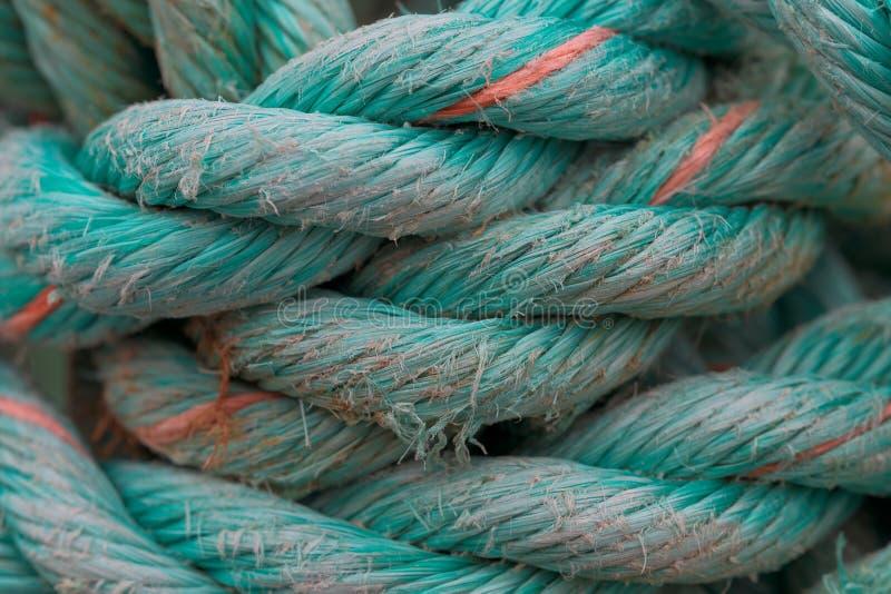 Primo piano della corda del turchese immagini stock