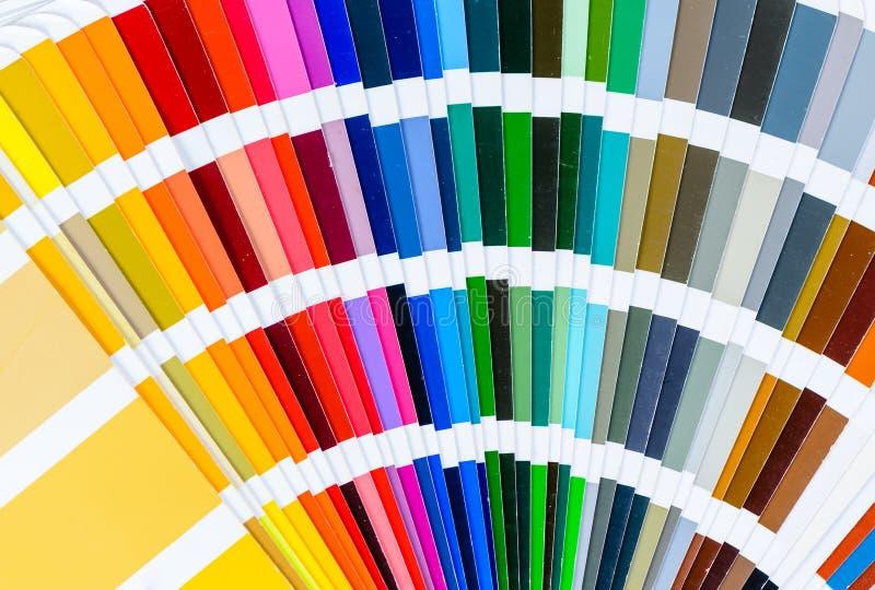 Primo piano della diffusione della guida di colore fotografie stock
