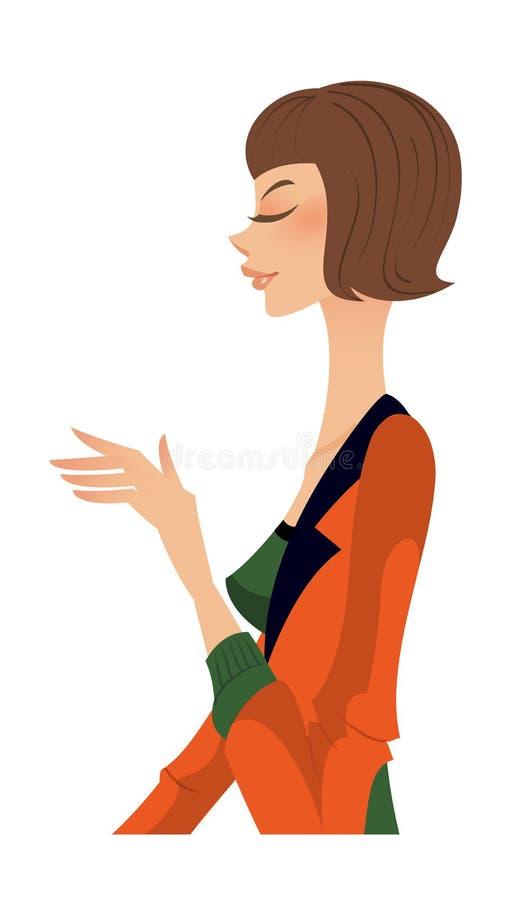 Download Primo piano della donna illustrazione vettoriale. Illustrazione di casuale - 30828415