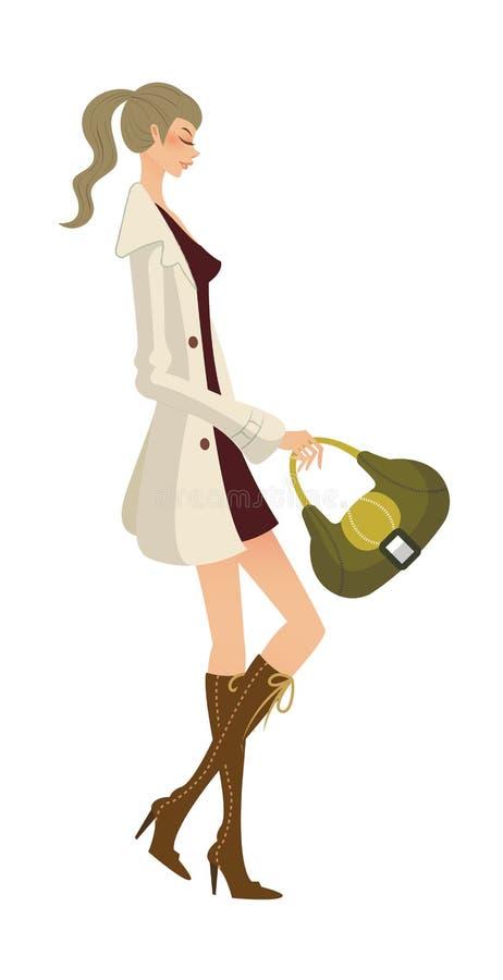 Download Primo piano della donna illustrazione vettoriale. Illustrazione di modo - 30828432