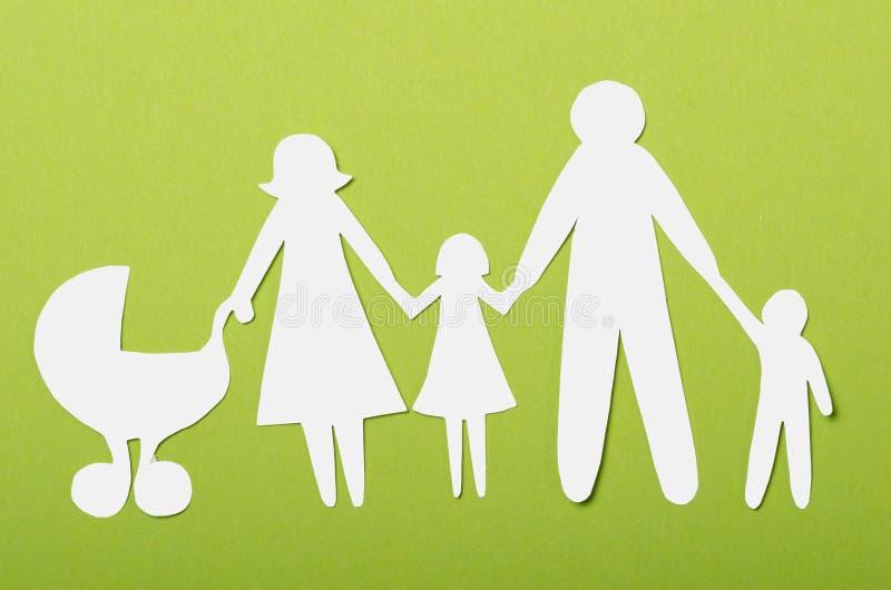 Primo piano della famiglia di carta immagini stock libere da diritti