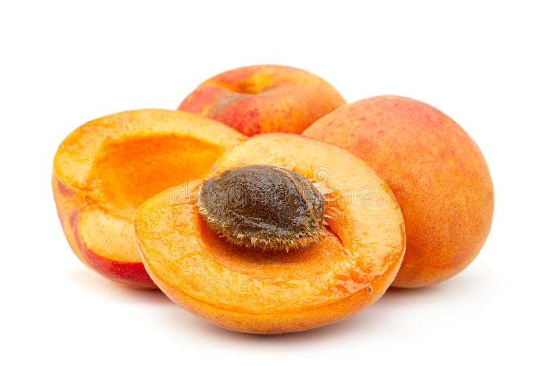 Primo piano della frutta dell'albicocca fotografia stock libera da diritti