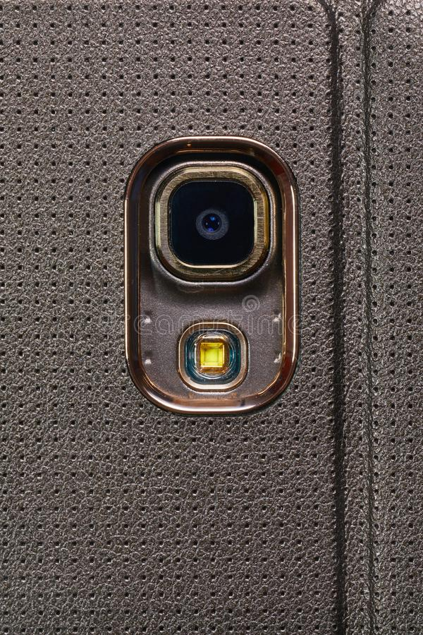 Primo piano della macchina fotografica del telefono fotografie stock