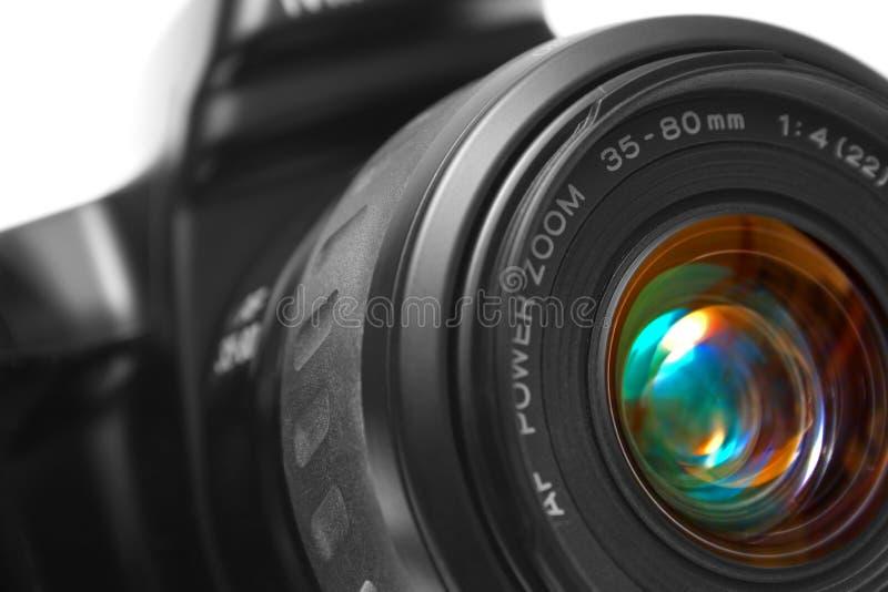 Primo piano della macchina fotografica di SLR immagini stock libere da diritti