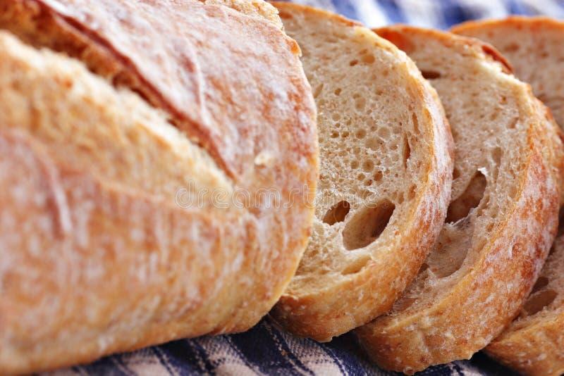 Primo piano della pagnotta del pane fotografie stock